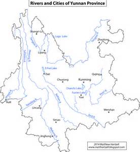 map with cities and rivers maps wonders of yunnan travel