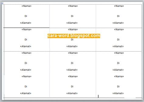 cara membuat stiker undangan di ms word cara membuat label undangan di ms word cara word