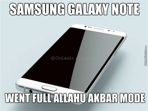 Galaxy Note Meme - galaxy note 7 converted to peaceful religion by