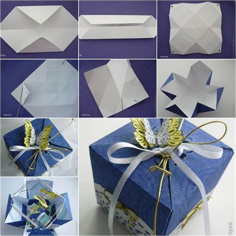 How To Make A Paper Present - diy pretty origami gift box