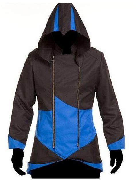 Terlaris Jaket Assasin S Creed Abu assassin s creed iii black and blue hoodie jacket