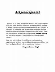 Image Result For How To Write An Acknowledgement Research Paper