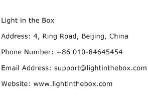 light in the box number light in the box address contact number of light in the box