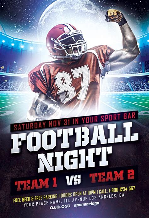Download Free Football Sports Flyer Template Awesomeflyer Com Free Football Flyer Design Templates