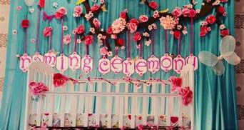 decorations for best decoration ideas for naming ceremony