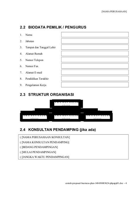 format bisnis plan lengkap contoh proposal usaha atau rencana bisnis
