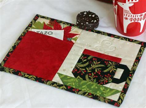 moda patterns quilt mug rugs pocket mug rug by julie cefalu craftsy