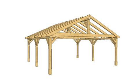 scheune selber bauen bauplan satteldach carport aus holz mit bauplan