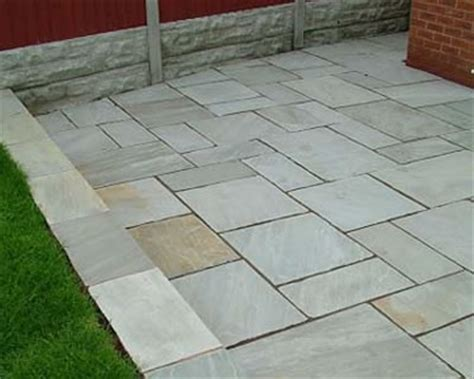 Patio Lights In Slabs Light Grey Sandstone Paving Patio Stonecrete Quality