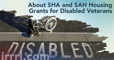 about sha and sah housing grants for disabled veterans irrrl