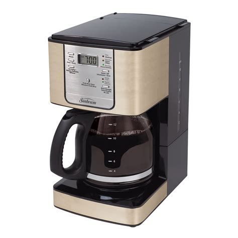 sunbeam kitchen appliances sunbeam 174 12 cup programmable coffeemaker chagne