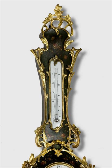 Termometer Century 19th century clock thermometer for sale at 1stdibs