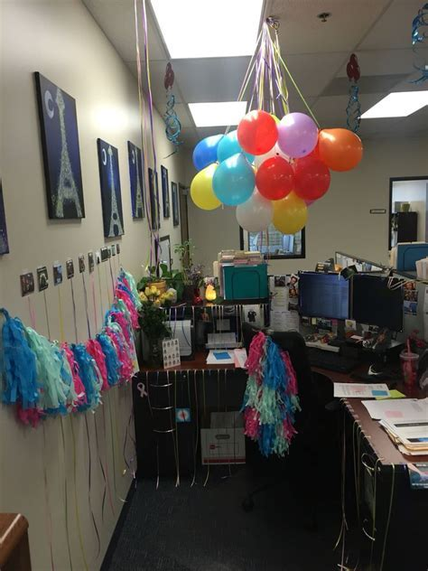 Birthday decorations for cubicle   Work Life ..Events and