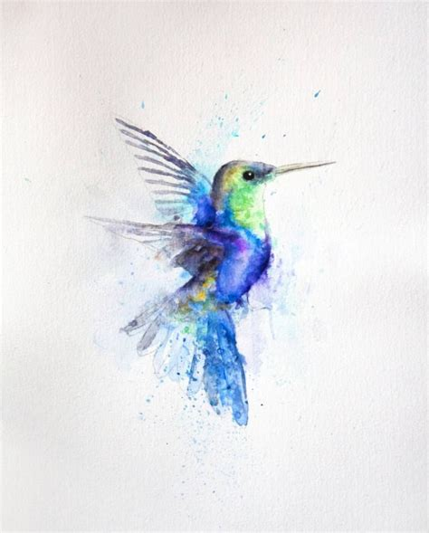 watercolor tattoo artist jakarta hummingbird painting by boba j hummingbird paintings