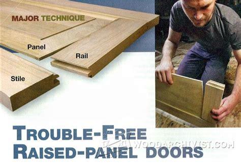 trouble  raised panel doors woodarchivist