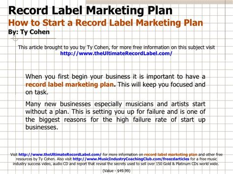 sle business plan record label how to start share marketing business london time sydney
