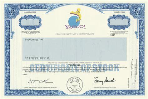 shareholder certificate sle stock certificate template