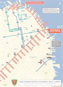 Trolley Map San Francisco by San Francisco Cable Cars Tour San Francisco