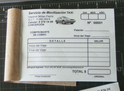 comprobante de taxis puebla imprenta selvagraf impresos publicitarios y documentos