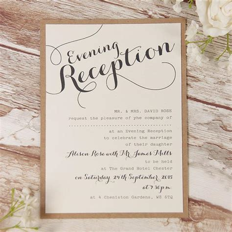 Evening Wedding Invitations   Cartalia