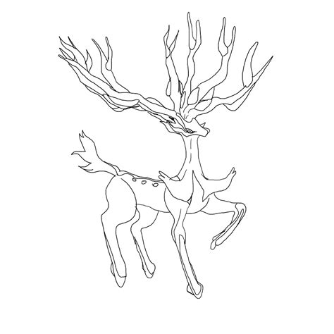 pokemon coloring pages deer legendary deer pokemon wip by setokibas kitten on deviantart