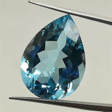 Sherry Topaz 15 16 Ct swiss blue topaz 15 93 ct catawiki