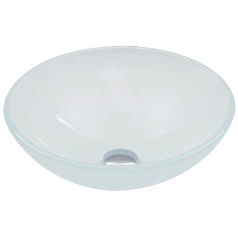 home depot white vessel sink vigo glass vessel sink in white vg07043 the home depot