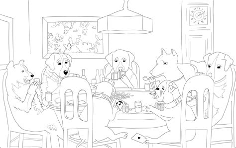 dogs playing poker coloring page jim coloring pages for adults 12 12 2016 dogs playing