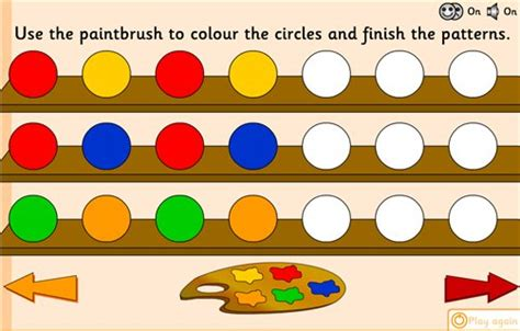 repeating pattern games early years simple patterns ngfl cymru maths zone cool learning games