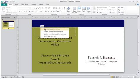 microsoft publisher business card templates how to use microsoft publisher templates to create a