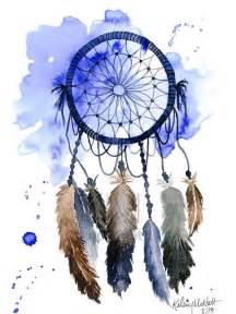 dream catcher print of original watercolor painting native