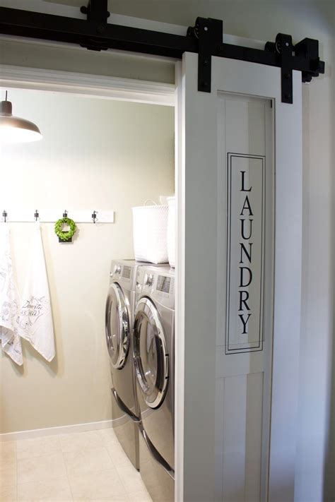 Doors For Laundry Closet 21 Fresh Ways To Incorporate Barn Doors Into Your Home Laundry Rooms Laundry And Room