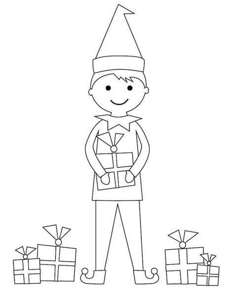 elf sized coloring pages 100 printable christmas coloring pages for kids of all ages