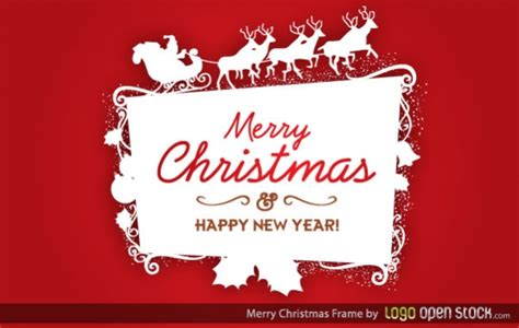 christmas logo logo frame vector free