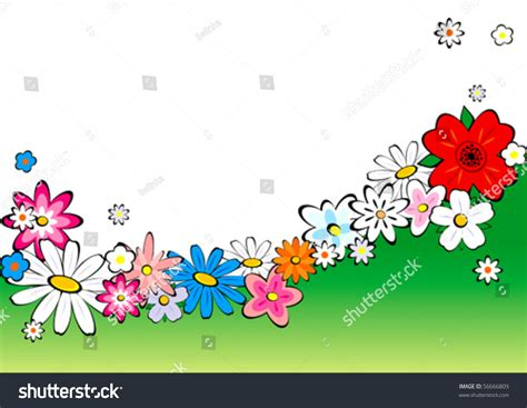 Wave And Flower flowers wave stock vector illustration 56666809