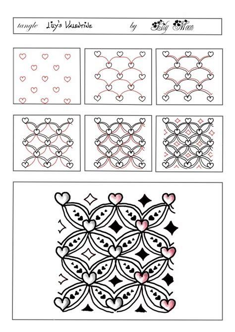 zentangle pattern a day lily s tangles my tangle pattern lily s valentine
