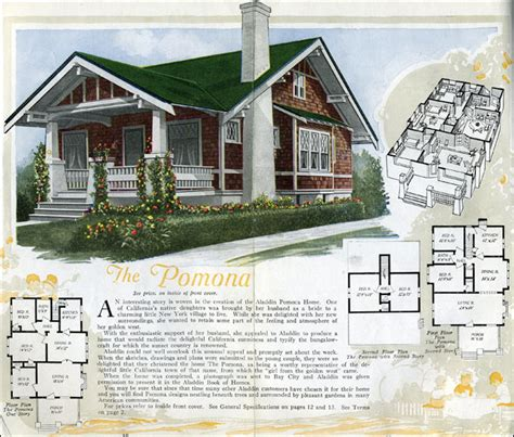 Distinctive House Design And Decor Of The Twenties | 1920 houses the pomona by aladdin homes kit homes