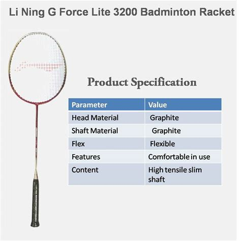 Raket Lining G Lite 3200 Li Ning G Lite 3200 Badminton Racket Http Www