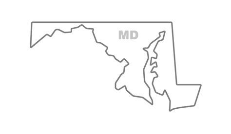 Maryland Map By County Outline by Outline Flippingxdesign