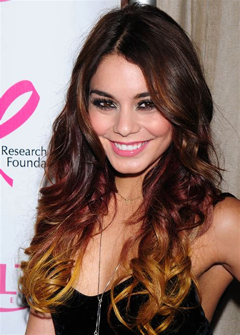 vanessa hudgens dyes her hair red breaking news and dip dye hair celebrity inspiration photo 10