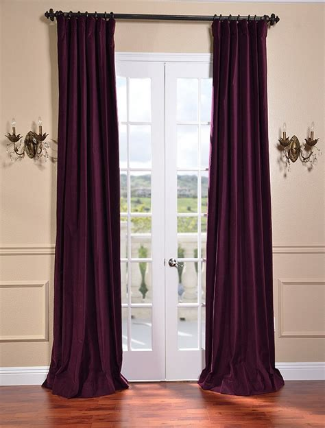 plum color curtains majestic plum vintage cotton velvet curtains drapes ebay
