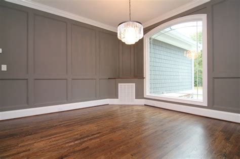 Pre Painted Wainscoting Formal Dining With Painted Wainscot Walls Transitional