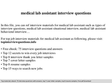 lab assistant questions