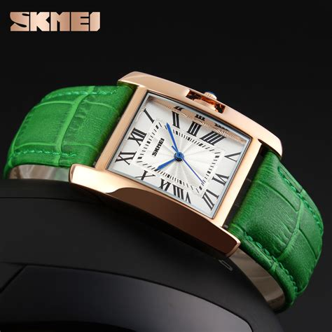 Skmei 1085 Fashion Leather Jam Tangan Wanita skmei jam tangan fashion wanita 1085cl green jakartanotebook