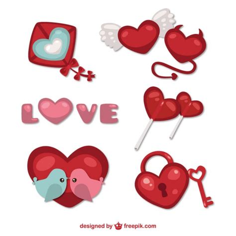 decorative things decorative valentine things vector free download