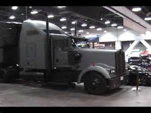 custom kenworth semi truck rig with flat grey amp black paint youtube