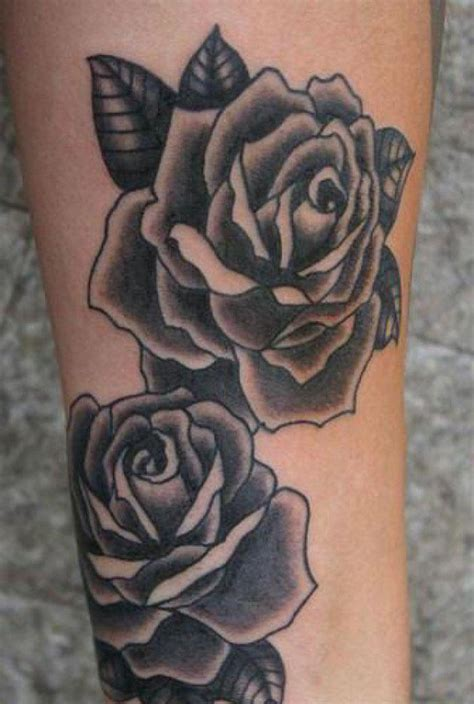 black and white rose tattoos for women tattoo designs