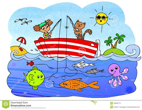 fish boat game for children stock illustration image - Boat Games Pictures