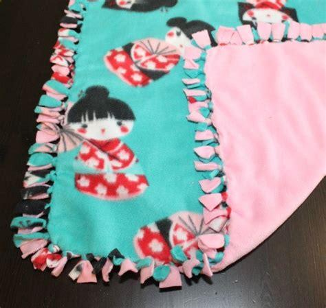 Make Fleece Tie Blanket a fleece blanket thriftyfun