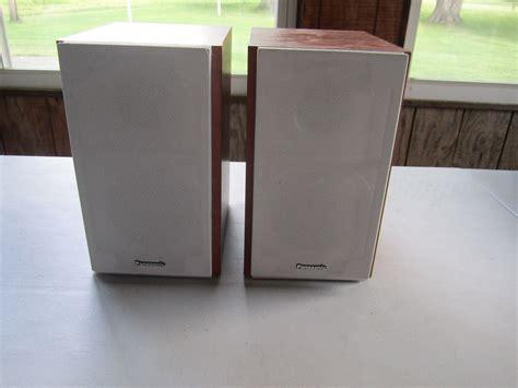 pair panasonic sb pm53 high end bi wired 2 way bookshelf